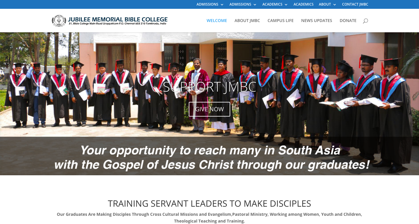 Jubilee Memorial Bible College   An Interdenominational  Evangelical Bible college